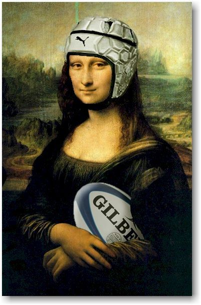 See professional game!  world cup! abroad.  Everyone loves rugby - Joconde rugby Vinci