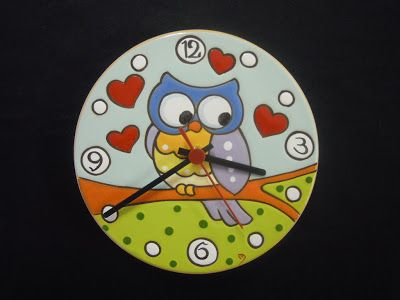 ceramica come mestiere: Orologi in cuerda seca. Originali, colorati e simo...
