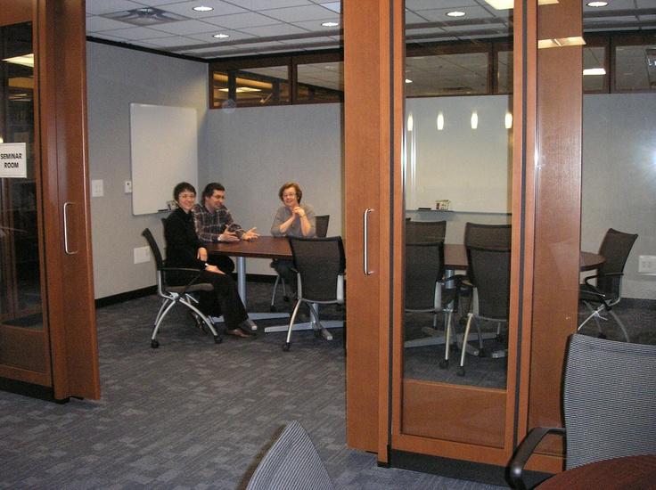 A seminar room in the Grad Pad