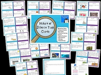 Nature of Science Task Cards- 52 activity cards with a variety of uses! ($): 5Th Grade Science, Task Cards, Science Staar, Science Ideas, Science Penguin, 5Th Grades, Penguins, Science Task