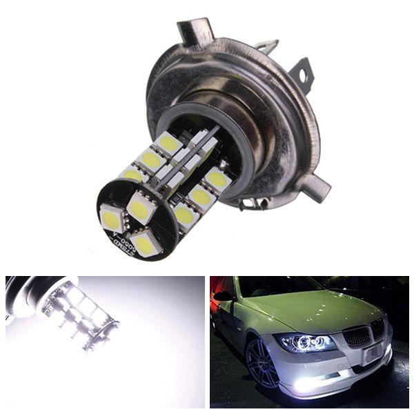 H4 27SMD CANBUS Error Free LED Headlight White Xenon Bulb