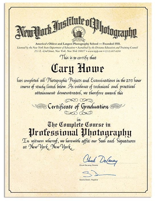NYIP Photography Courses - Professional Photography Course