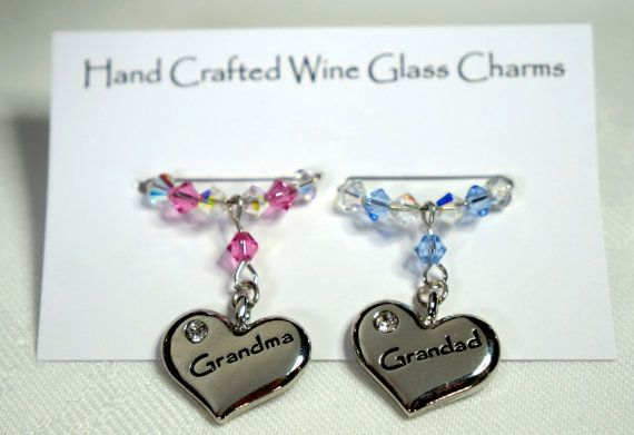 Wine Glass Charms  Nan & Grandad Wine Glass by Makewithlovecrafts, £9.99