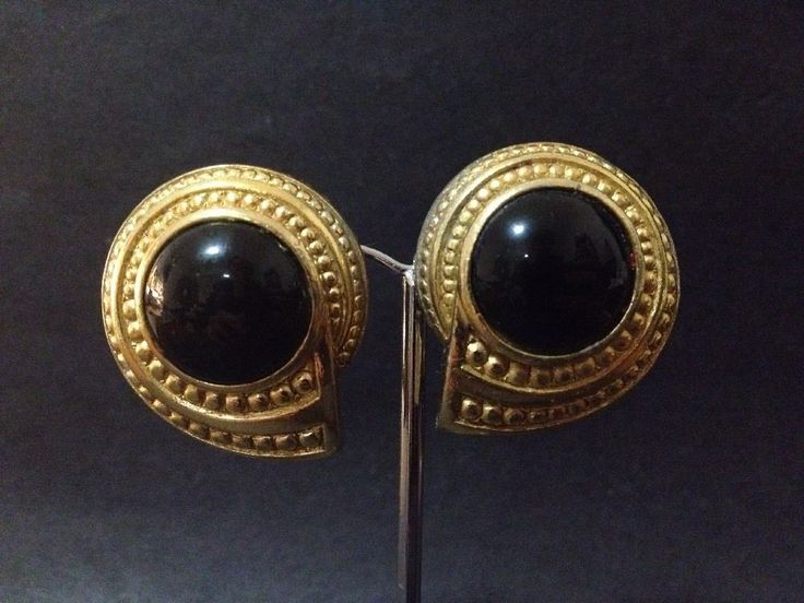 Estate Find - Vintage Authentic Christian Dior Clip on Earrings