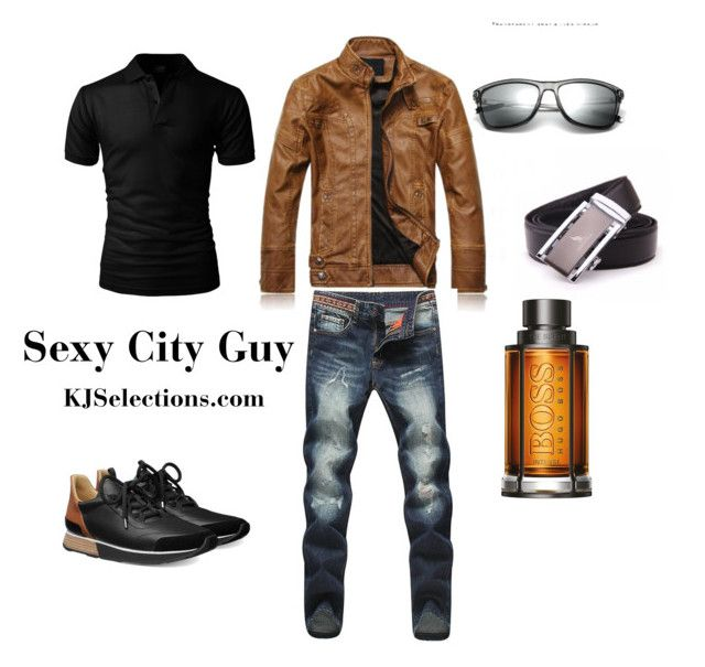 """""""Sexy City Guy"""" by kjselections ❤ liked on Polyvore featuring BOSS Hugo Boss, men's fashion and menswear"""