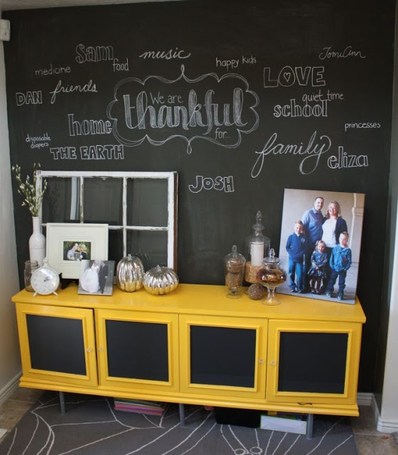 just what i {squeeze} in: My Thanksgiving Chalkboard Wall