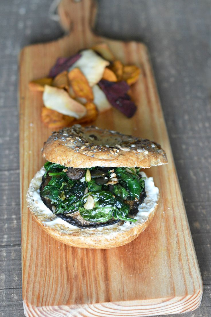 VEGGIE BURGUER & BAGEL RECIPE