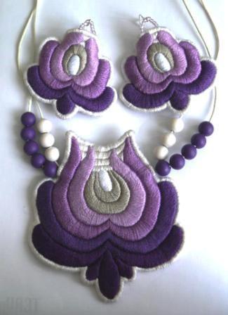 Purple embroidery