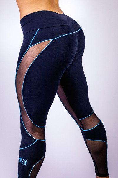 BootyQueen Mesh Legging-Turquoise