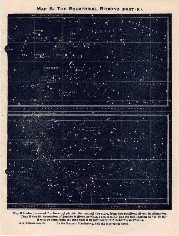 astronomy star charts constellations - 570×751