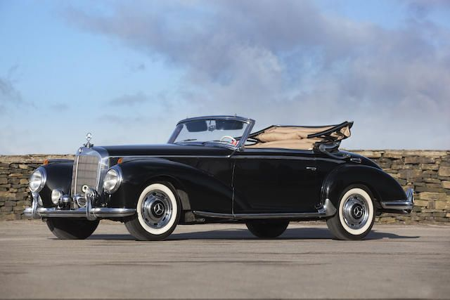 One of only 203 examples produced 1954 Mercedes-Benz 300 S Cabriolet A Chassis no. 188-010-4500019  Engine no. 188.920- 3500380 More expensive than the 300 SL sports car and almost double the price of the contemporary top-of-the-range Cadillac, the Mercedes-Benz 300 S was one of the world's most exclusive automobiles. It is also historically significant as one of Mercedes-Benz's first all-new designs of the post-war era, debuting in the autumn of 1951.
