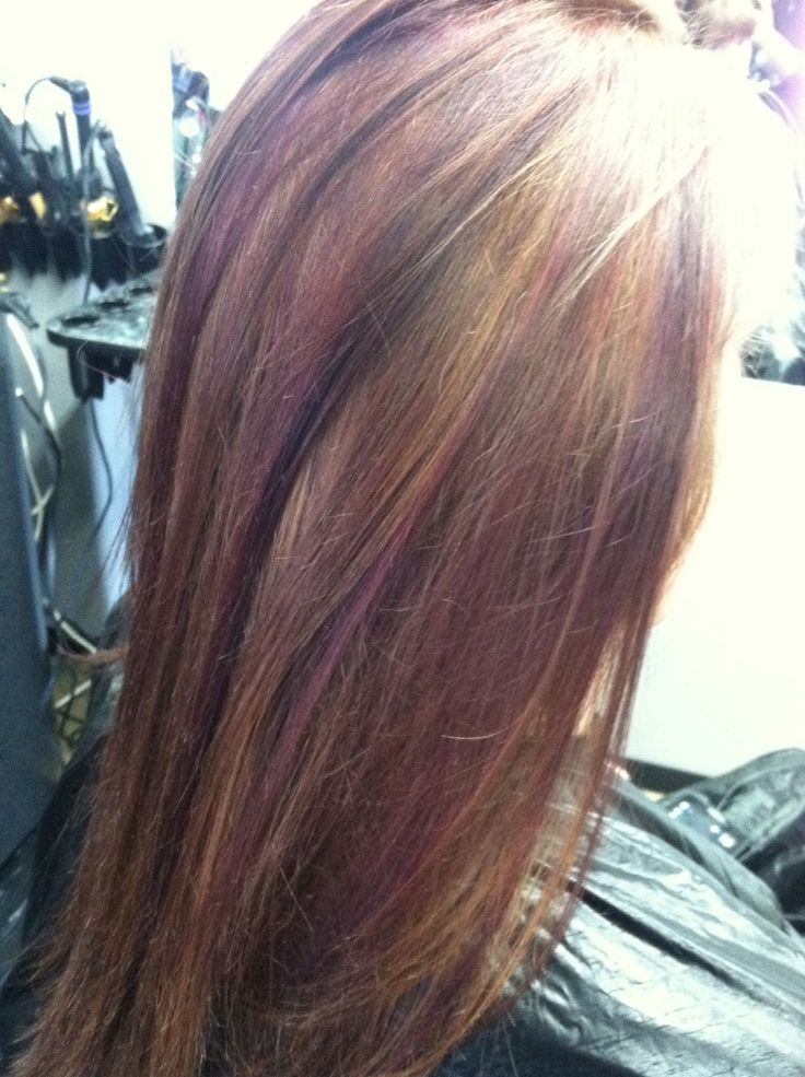 Red-Brown Blonde Highlights