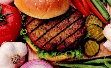 Looking for the ultimate summer treat? Make these Spicy Korean Burgers with kimchi, Asian pear, and spicy mayo.