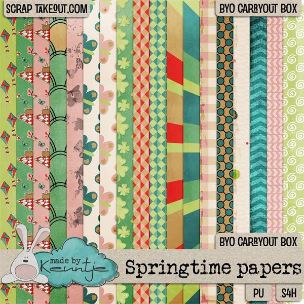 Springtime papers http://scraptakeout.com/shoppe/-Made-By-Keuntje/