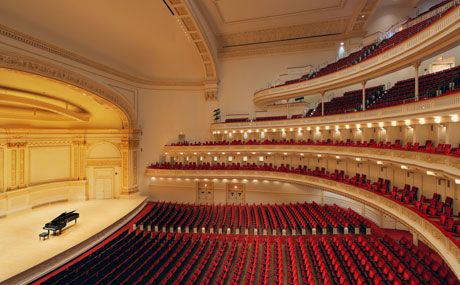 Carnegie Hall...I would love to be able to take my son back and let him see where I performed.