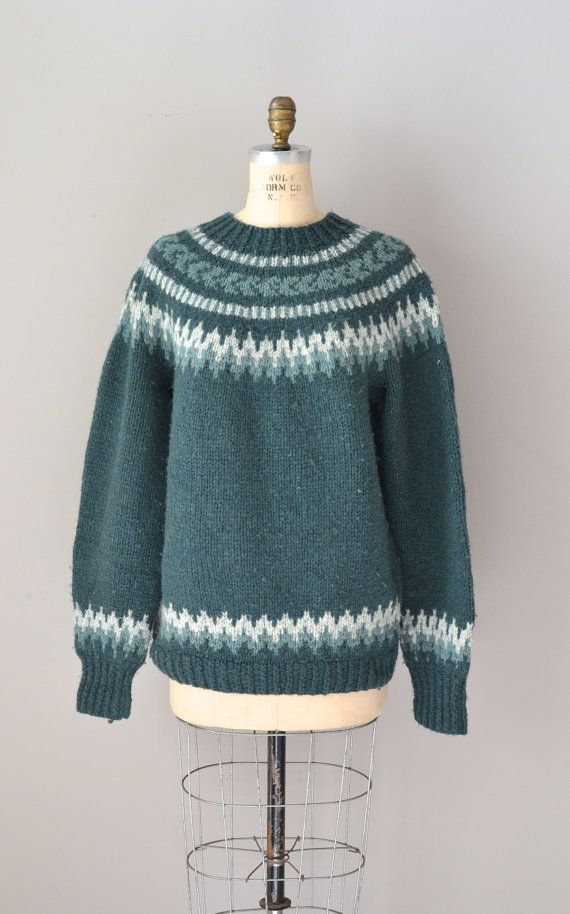fair isle sweater / folk wool sweater / North by DearGolden, $54.00