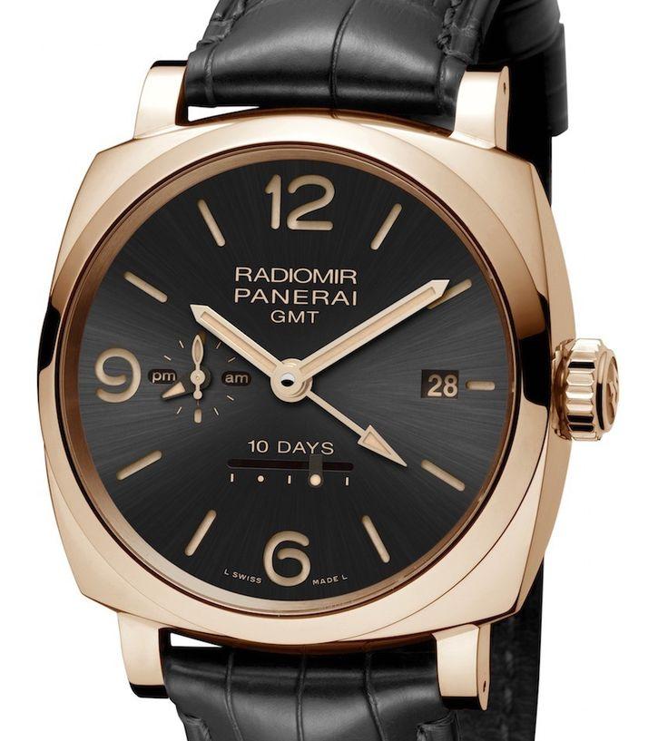 """Panerai Radiomir 1940 10 Days GMT Automatic Oro Rosso Watch"" via @watchville"