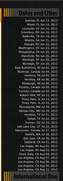One Direction U.S. tour schedule! My concert is July 14!!!! So excited. I'm so proud of them.