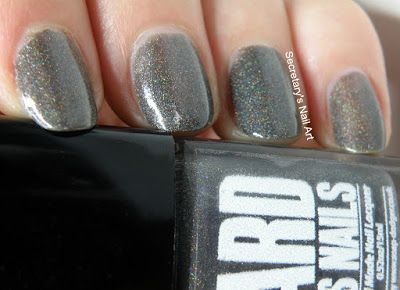 Secretary`s Nail Art: Ard As Nails - Dark Knight #secretarysnailart #ardasnails #swatch #swatches #ukpolish #indiepolish