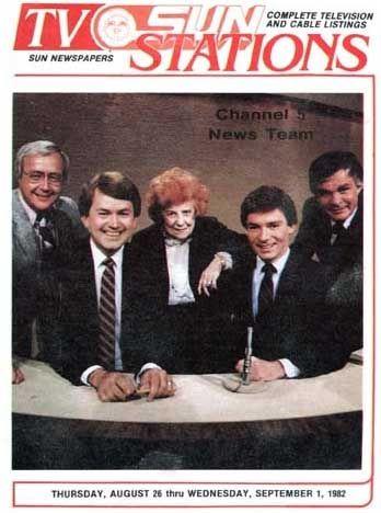 Channel 5 Newsteam in 1982 - Dorothy Fuldheim, Gib Shanley