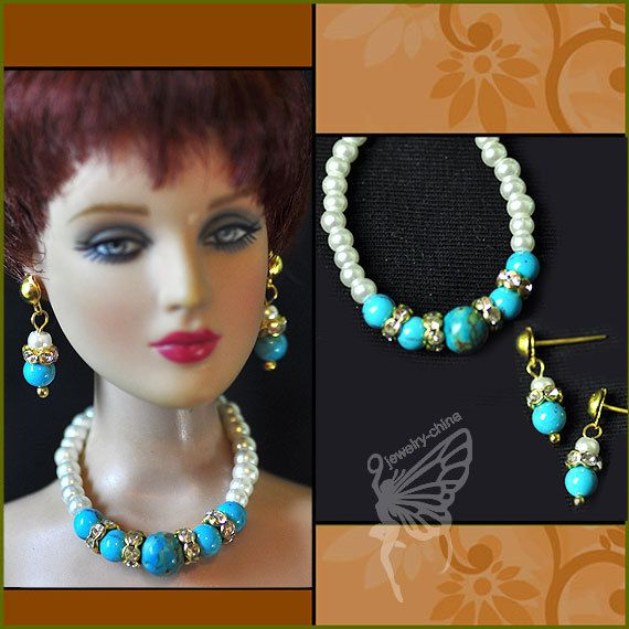 16 tonner doll jewelry set necklace and earring for by sinogem