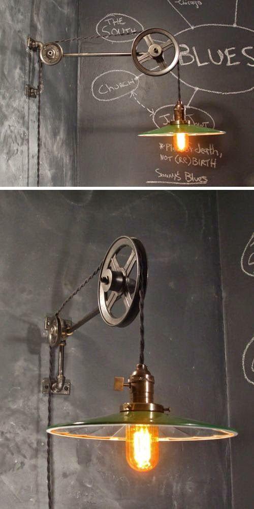 Lámparas industriales, auténticos iconos de la decoración vintage.