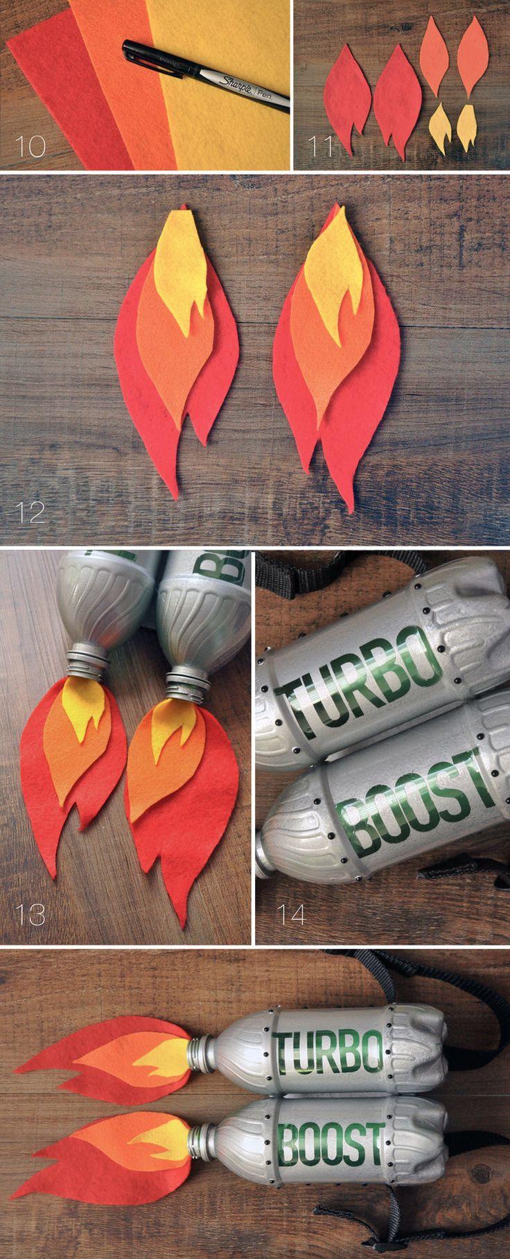 """Uma ideia """"explosiva"""" para o Carnaval feita com feltro e garrafas reutilizadas..."""