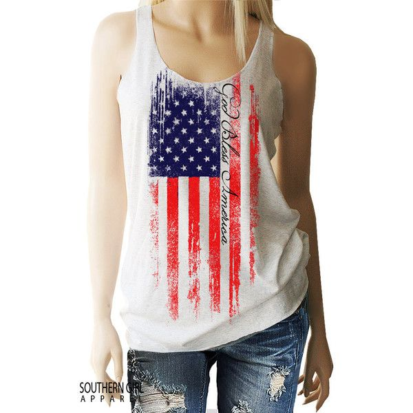 American Flag American Flag Clothing American Flag Shirt American Flag... ($22) ❤ liked on Polyvore featuring tops, grey, tanks, women's clothing, red shirt, usa flag shirt, red checked shirt, gray shirt and red tank top