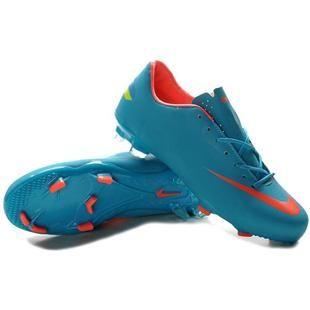 2012 Nike Mercurial Victory III Firm Ground Football Boots Blue Orange d4eea31e2