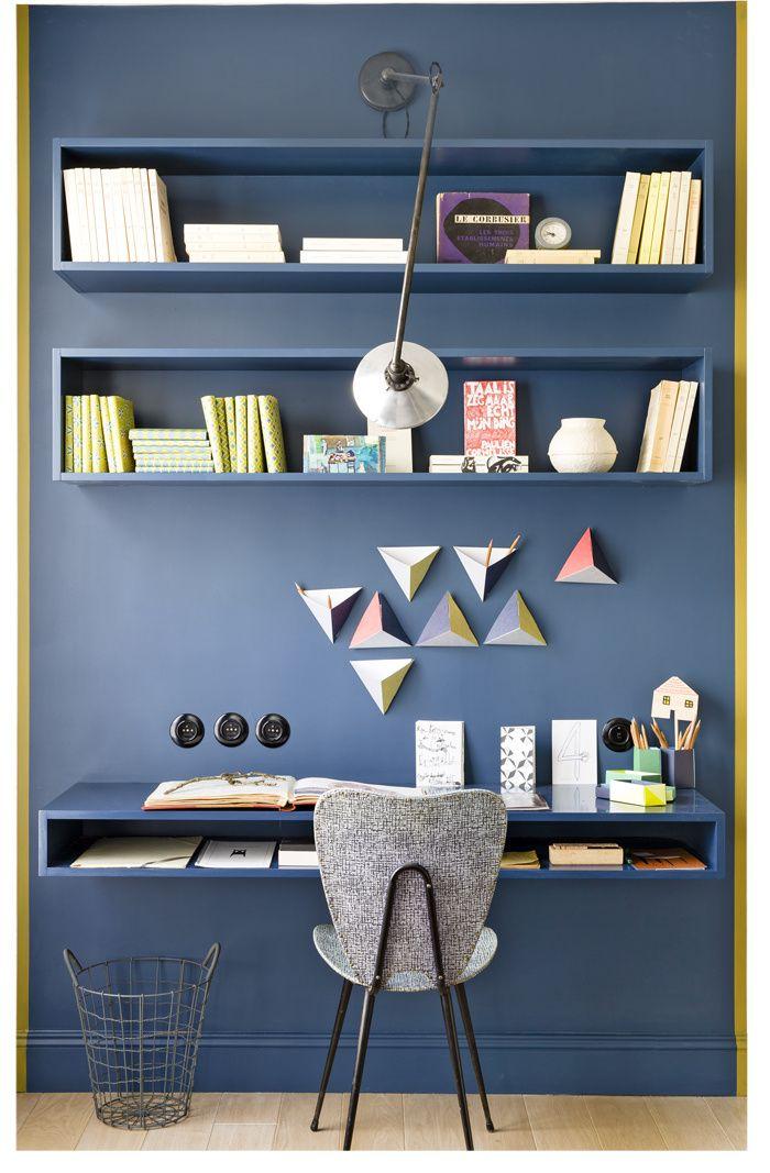 Les 25 meilleures id es concernant peinture ressource sur pinterest bleu ca - Couleur mur bureau maison ...