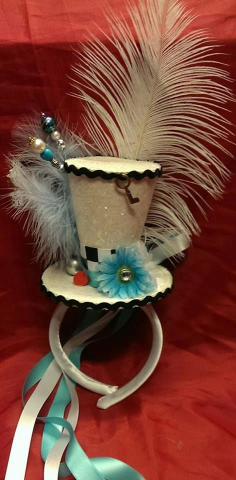Alice in Wonderland Through The Looking-Glass Bespoke Mini Top Hat Mad Hatter Wedding Fairytale Fantasy Ascot Halloween Cosplay