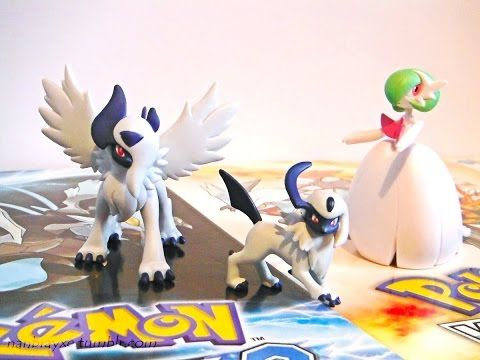 Review: Figuras Pokemon Tomy - Moncollé Absol ,Mega Absol & Mega Gardevoir en Español - YouTube
