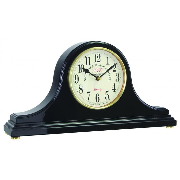 Mantel Clock London Clock Company Black Napoleon Mantel