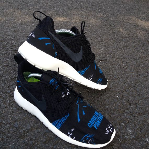 Custom Nike Roshe One Carolina Panthers by customsxcario on Etsy