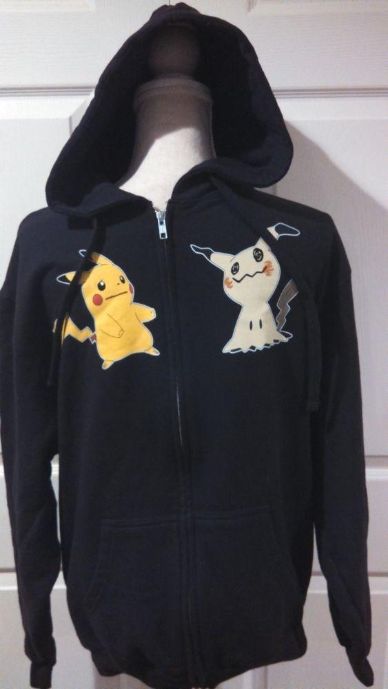 5f875982 Pokemon Pikachu Mimikyu Hoodie Medium Full Zip Hooded Sweatshirt Jacket  Mens #HotTopic #Hoodie