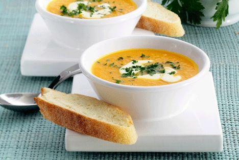 Servér en dampende varm suppe til kolde aftener.