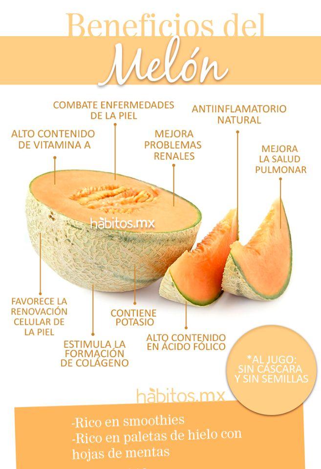 Beneficios del #melón. http://www.pinterest.com #nutriicón #saludable #fruta