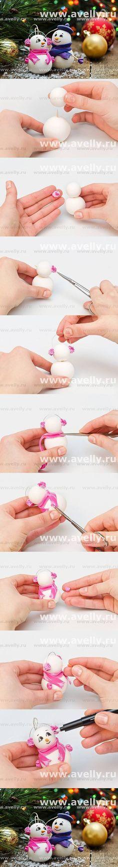 DIY Christmas Snowman DIY Projects | UsefulDIY.com Follow Us on Facebook ==> http://www.facebook.com/UsefulDiy
