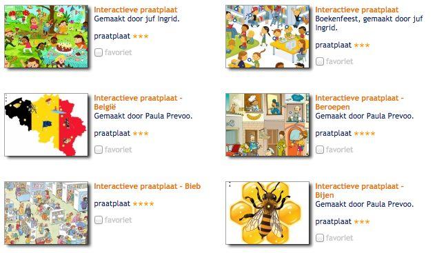 Overzicht interactieve praatplaten