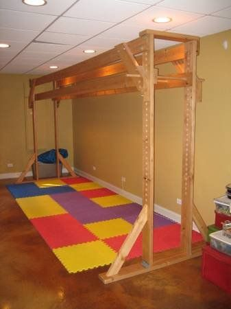 17 best images about indoor playground on pinterest rope for Basement jungle gym
