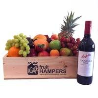 Penfolds Koonunga Hill Shiraz Cabernet Fruti Hamper  http://www.igiftfruithampers.com.au/mothers-day-gift-baskets/  Mothers Day Hampers - full of fruit! Add something sweet, cute or bubbly and then finish it off with some beautiful silk roses. #mothersdayhampers #mothersday #mothers #hampers #gift hampers #fruitbaskets #fruit #baskets #gifts