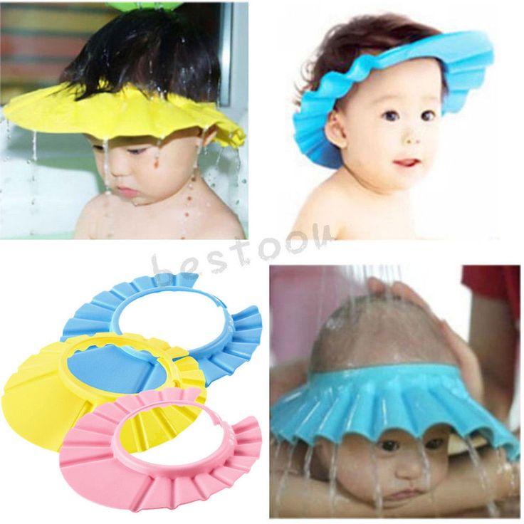 Soft Baby Kids Children Shampoo Bath Bathing Shower Cap Hat Wash Hair Shield XIG #UnbrandedGeneric