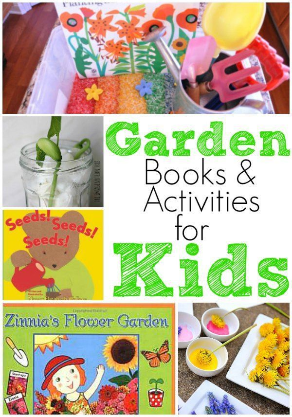 Garden books and activities for preschool! Perfect for a plant or flower unit this spring! #preschool #gardenbooksandcrafts