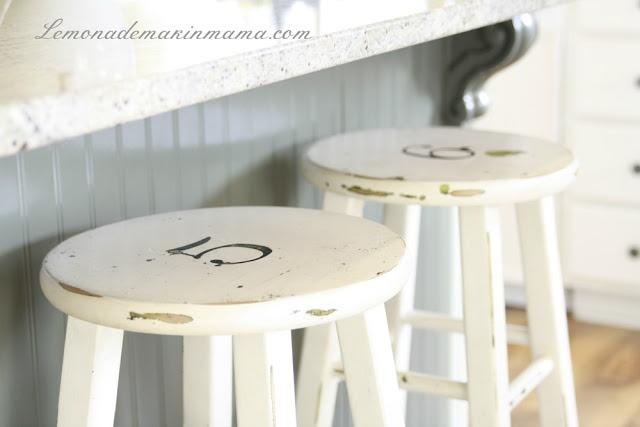 cheap stools redone....love it.