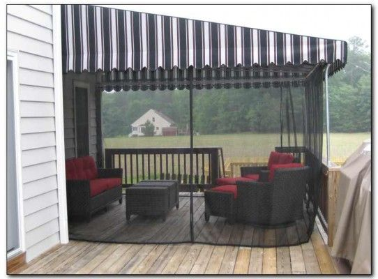 Deck Awnings With Mosquito Netting 12 Best Gazebo Images On Pinterest Deck Patio Enclosed
