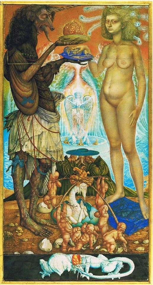 Marriage of the Unicorn ~ by Ernst Fuchs…