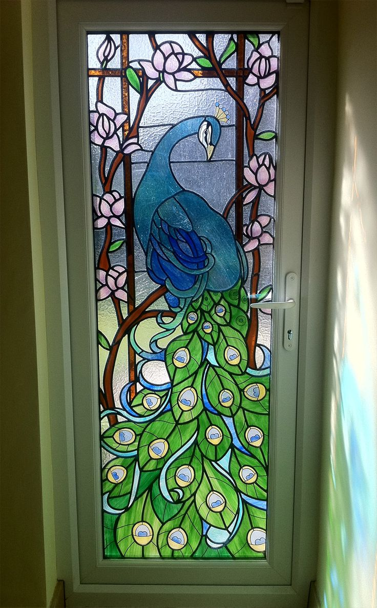 Recently Completed Traditional Stained Glass Window In A