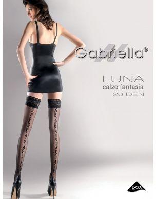 http://www.lamai.pl/15-poczochy Pończochy ze szwem Luna 209 Gabriella samonośne - Sklep Lamai.pl