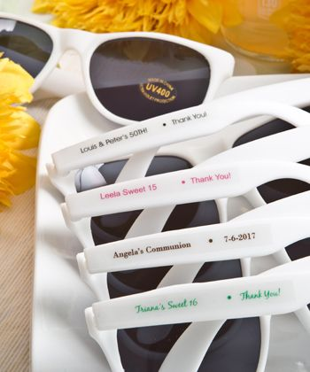 Personalized Sunglasses Party Favors - Custom Label $1.08