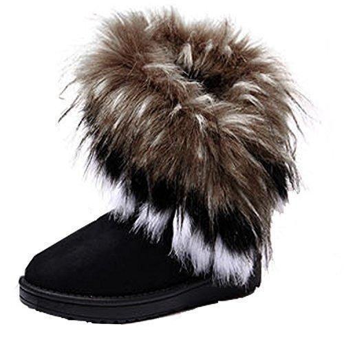 Oferta: 15.9€. Comprar Ofertas de ZEARO Botas de Nieve Mujer Botas al Tobillo Botón Forrada de Piel Zapato Invierno Nieve Lluvia Botas barato. ¡Mira las ofertas!
